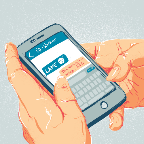 web conferencing tips texting during meeting