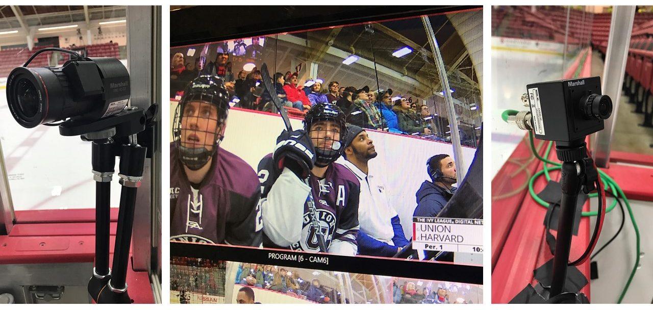 Harvard hockey penalty box with Marshall POV Cameras