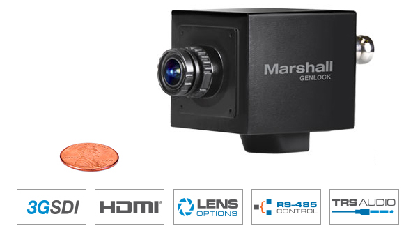 2.5MP Full-HD Miniature GENLOCK POV Camera with interchangeable lens