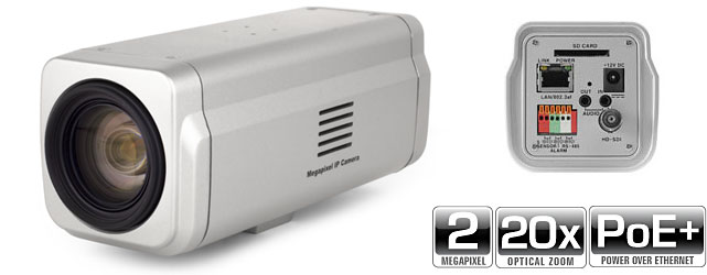 2.0MP 20X Zoom IP Box Camera