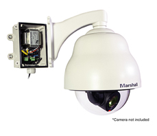 Weatherproof Camera Dome Housing and Weatherproof Power Supply