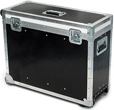Rugged Road Case with wheels and pull-up handle