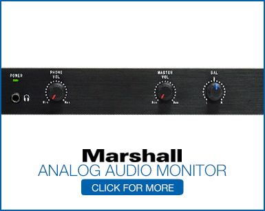 Analog Audio Monitors for broadcast