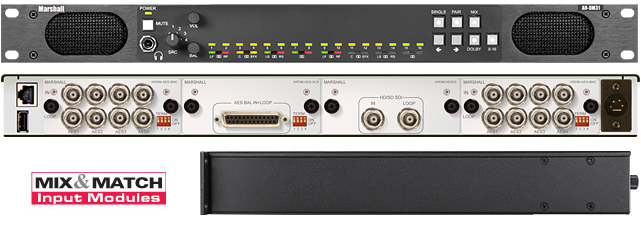 16 Channel Digital Audio Monitor, 1RU Mainframe