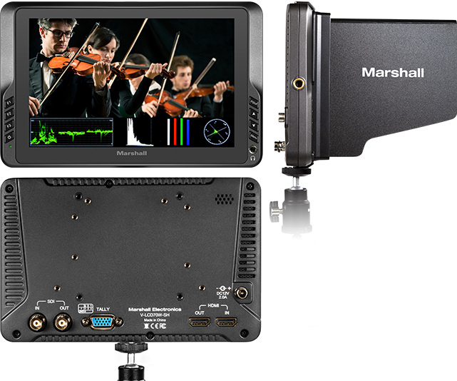7-inch Full HD Lightweight Camera-Top Monitor with HDMI and SDI Inputs