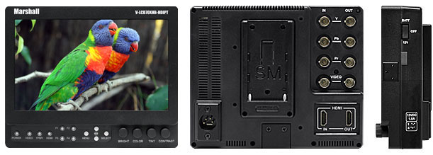 7 inch High Brightness Field / Camera-Top LCD Monitor with HDMI Loop-Through