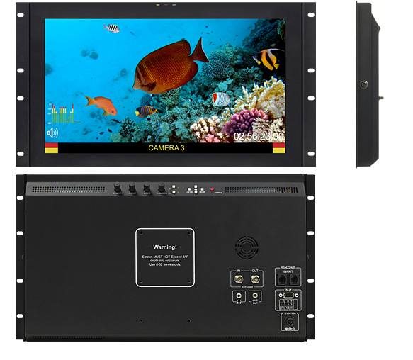 17.3-inch High Resolution LCD Rack Mount Monitor with Modular Inputs and Truck Edition Enhancements