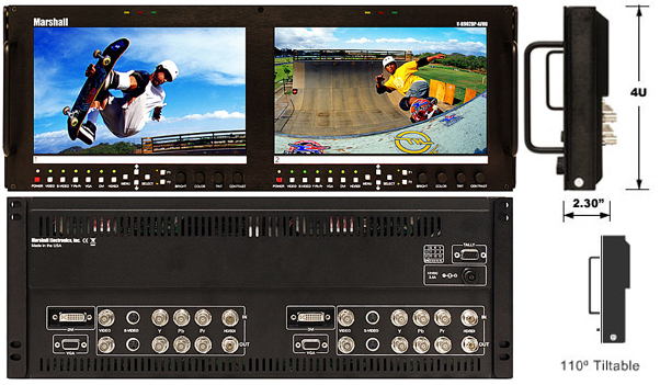Dual Screen 9 inch HD/SD monitor set with advanced features