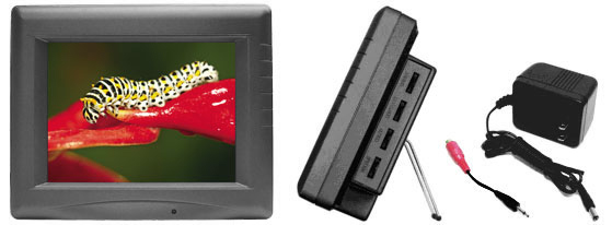 LCD Monitor with audio and reverse image