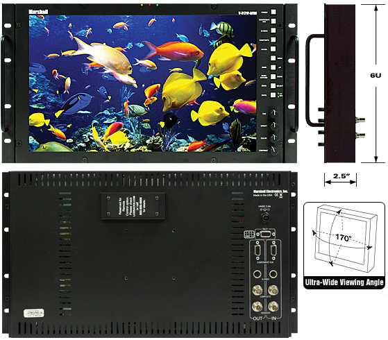 17 inch Rack Mount or Desktop HD Monitor Accepts all Analog or Digital Video formats