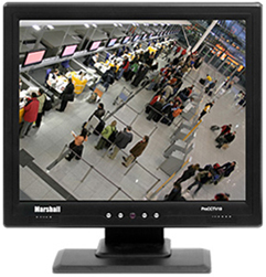 19-inch monitor with looping BNC video inputs and NTSC/PAL support