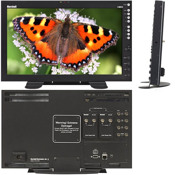 6RU 17-inch Full Resolution monitor with Modular Inputs