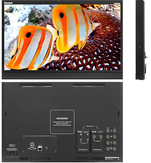 "20"" 7RU High Resolution LCD Rack Monitor with Modular Inputs"