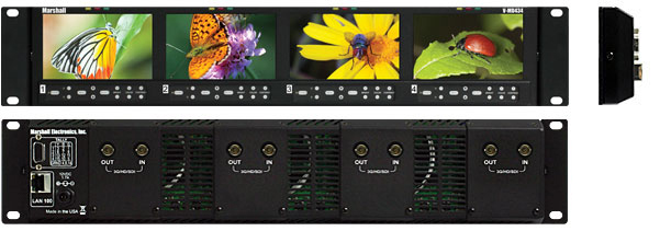 4.3 inch high resolution LCD rack with modular input-output