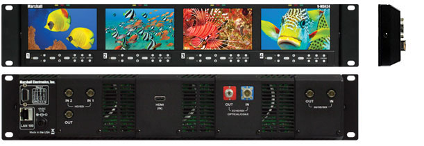 4.3-inch High Resolution LCD Rack Mount Monitor with Modular Inputs