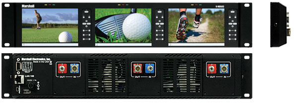5 inch high resolution LCD rack with Modular Inputs