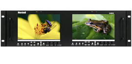 Dual 7 inch 3RU High Resolution LCD Rack Mount Monitor