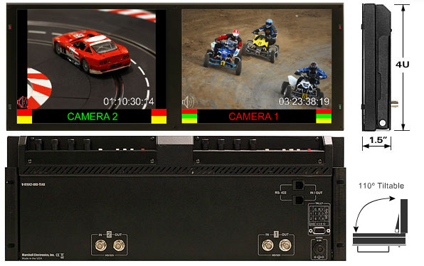 Dual 10.4 inch 3G HD Monitor with IMD function