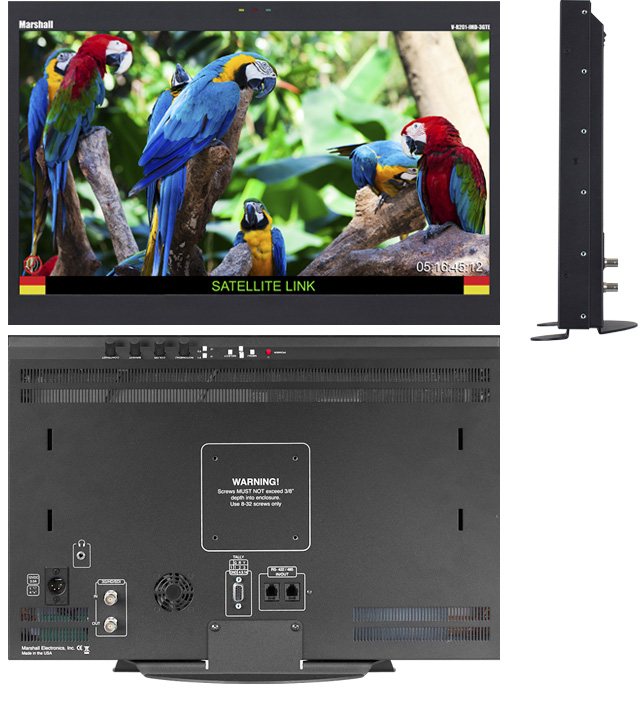 20 inch 1600 x 900 Desktop or Rack Mount Monitor with 3GHD-SDI input and IMD