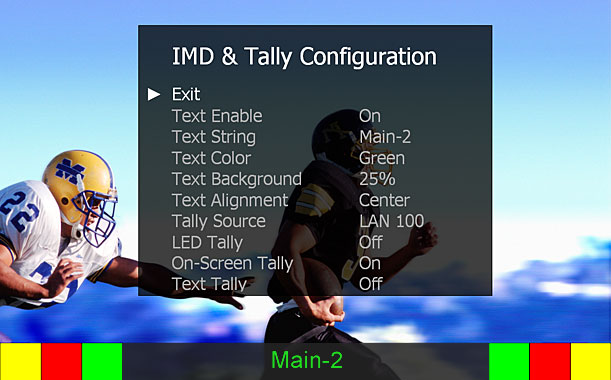 IMD and Tally Configuration Main Sample
