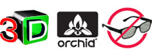 3D, ORCHID logos, no 3D glasses required