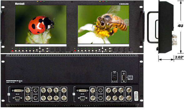V-R82SB-AFHD outdoor LCD Rack Monitor