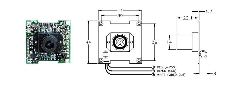marshall electronics - optical systems division - v-1205 miniature cameras wiring diagram security camera wire color diagram marshall electronics