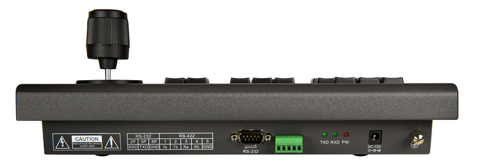 Keyboard PTZ Controller rear view
